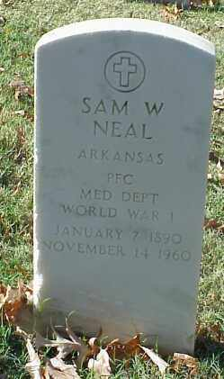 NEAL (VETERAN WWI), SAM W - Pulaski County, Arkansas | SAM W NEAL (VETERAN WWI) - Arkansas Gravestone Photos