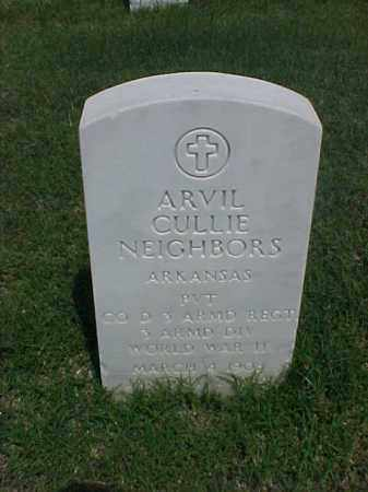 NEIGHBORS (VETERAN WWII), ARVIL CULLIE - Pulaski County, Arkansas | ARVIL CULLIE NEIGHBORS (VETERAN WWII) - Arkansas Gravestone Photos