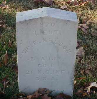 NELSON (VETERAN CSA), WILLIAM F - Pulaski County, Arkansas | WILLIAM F NELSON (VETERAN CSA) - Arkansas Gravestone Photos