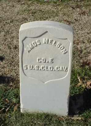 NELSON (VETERAN UNION), AMOS - Pulaski County, Arkansas   AMOS NELSON (VETERAN UNION) - Arkansas Gravestone Photos