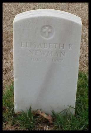 NEWMAN, ELISABETH K - Pulaski County, Arkansas | ELISABETH K NEWMAN - Arkansas Gravestone Photos
