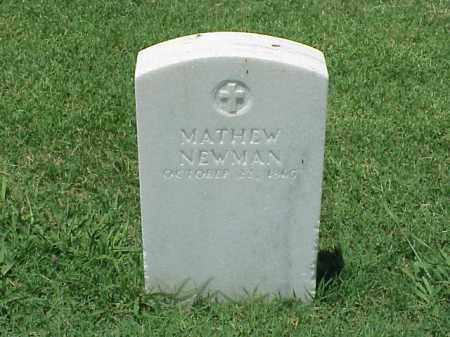 NEWMAN (VETERAN UNION), MATHEW - Pulaski County, Arkansas | MATHEW NEWMAN (VETERAN UNION) - Arkansas Gravestone Photos