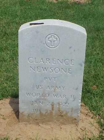 NEWSONE (VETERAN WWII), CLARENCE - Pulaski County, Arkansas | CLARENCE NEWSONE (VETERAN WWII) - Arkansas Gravestone Photos