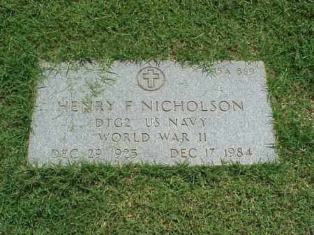 NICHOLSON (VETERAN WWII), HENRY F - Pulaski County, Arkansas | HENRY F NICHOLSON (VETERAN WWII) - Arkansas Gravestone Photos