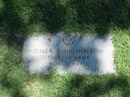 NICHOLSON (VETERAN WWII), OMER L - Pulaski County, Arkansas   OMER L NICHOLSON (VETERAN WWII) - Arkansas Gravestone Photos