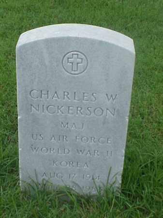 NICKERSON (VETERAN 2 WARS), CHARLES W - Pulaski County, Arkansas   CHARLES W NICKERSON (VETERAN 2 WARS) - Arkansas Gravestone Photos