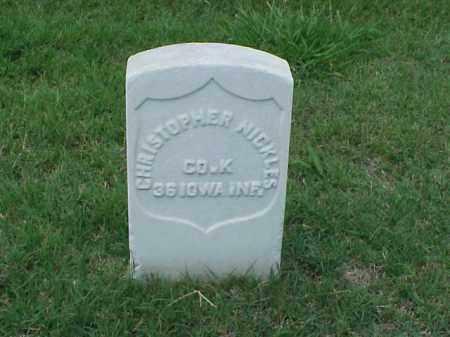 NICKLES (VETERAN UNION), CHRISTOPHER - Pulaski County, Arkansas | CHRISTOPHER NICKLES (VETERAN UNION) - Arkansas Gravestone Photos