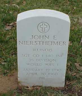 NIERSTHEIMER  (VETERAN WWI), JOHN E - Pulaski County, Arkansas   JOHN E NIERSTHEIMER  (VETERAN WWI) - Arkansas Gravestone Photos