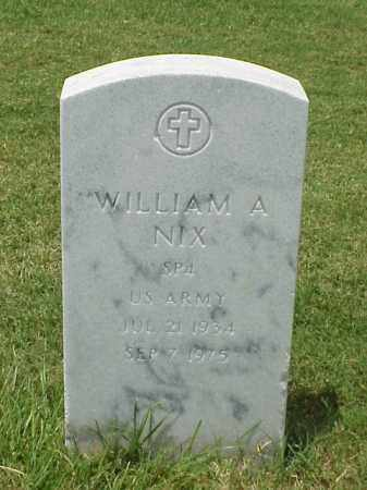 NIX (VETERAN), WILLIAM A - Pulaski County, Arkansas   WILLIAM A NIX (VETERAN) - Arkansas Gravestone Photos