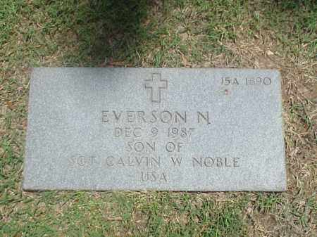 NOBLE, EVERSON N - Pulaski County, Arkansas | EVERSON N NOBLE - Arkansas Gravestone Photos