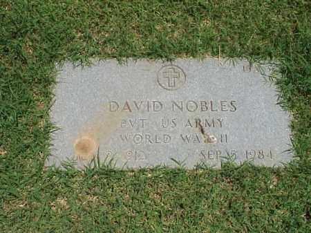 NOBLES (VETERAN WWII), DAVID - Pulaski County, Arkansas | DAVID NOBLES (VETERAN WWII) - Arkansas Gravestone Photos