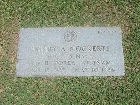 NOCKERTS (VETERAN 3 WARS), HENRY A - Pulaski County, Arkansas | HENRY A NOCKERTS (VETERAN 3 WARS) - Arkansas Gravestone Photos