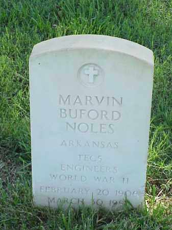 NOLES (VETERAN WWII), MARVIN BUFORD - Pulaski County, Arkansas | MARVIN BUFORD NOLES (VETERAN WWII) - Arkansas Gravestone Photos