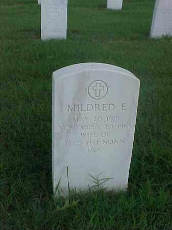 NONN, MILDRED E - Pulaski County, Arkansas   MILDRED E NONN - Arkansas Gravestone Photos