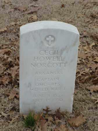 NORCOTT (VETERAN 2 WARS), CECIL HOWELL - Pulaski County, Arkansas | CECIL HOWELL NORCOTT (VETERAN 2 WARS) - Arkansas Gravestone Photos