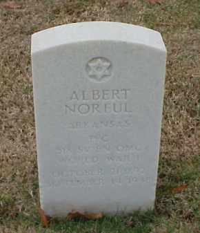 NORFUL (VETERAN WWI), ALBERT - Pulaski County, Arkansas   ALBERT NORFUL (VETERAN WWI) - Arkansas Gravestone Photos