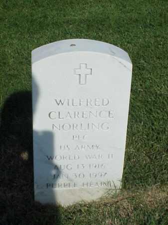 NORLING (VETERAN WWII), WILFRED CLARENCE - Pulaski County, Arkansas   WILFRED CLARENCE NORLING (VETERAN WWII) - Arkansas Gravestone Photos