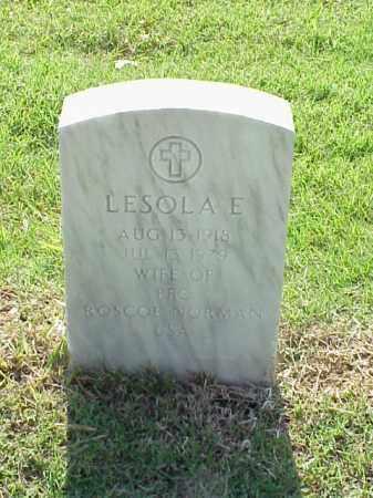 NORMAN, LESOLA E - Pulaski County, Arkansas | LESOLA E NORMAN - Arkansas Gravestone Photos