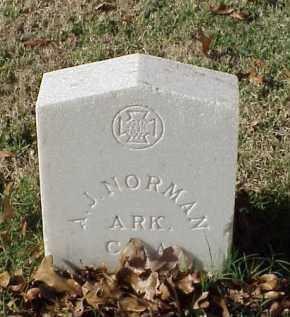 NORMAN (VETERAN CSA), A J - Pulaski County, Arkansas   A J NORMAN (VETERAN CSA) - Arkansas Gravestone Photos
