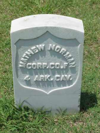 NORMAN (VETERAN UNION), MATHEW - Pulaski County, Arkansas   MATHEW NORMAN (VETERAN UNION) - Arkansas Gravestone Photos