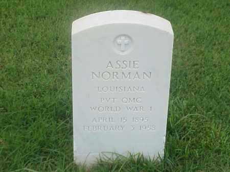 NORMAN (VETERAN WWI), ASSIE - Pulaski County, Arkansas | ASSIE NORMAN (VETERAN WWI) - Arkansas Gravestone Photos