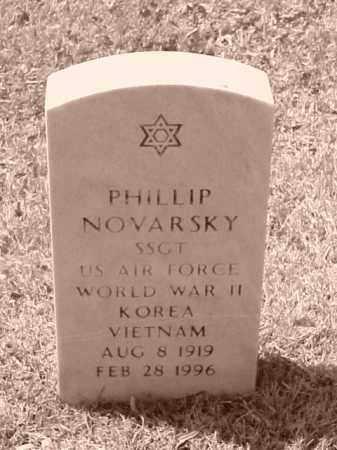 NOVARSKY (VETERAN 3 WARS), PHILLIP - Pulaski County, Arkansas   PHILLIP NOVARSKY (VETERAN 3 WARS) - Arkansas Gravestone Photos