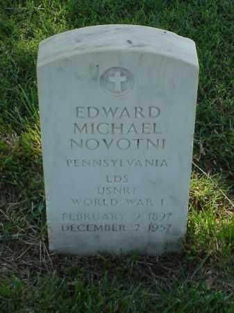 NOVOTNI (VETERAN WWI), EDWARD MICHAEL - Pulaski County, Arkansas | EDWARD MICHAEL NOVOTNI (VETERAN WWI) - Arkansas Gravestone Photos