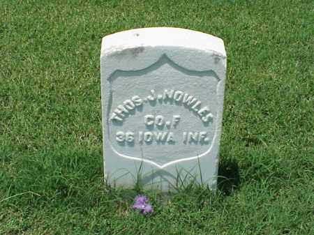 NOWLES (VETERAN UNION), THOMAS J - Pulaski County, Arkansas | THOMAS J NOWLES (VETERAN UNION) - Arkansas Gravestone Photos