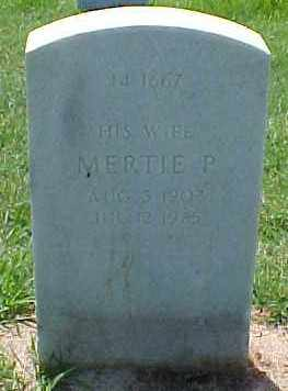 NULL, MERTIE P. - Pulaski County, Arkansas   MERTIE P. NULL - Arkansas Gravestone Photos