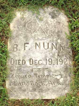 NUNN, B. F. - Pulaski County, Arkansas | B. F. NUNN - Arkansas Gravestone Photos