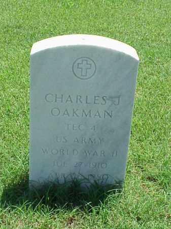 OAKMAN (VETERAN WWII), CHARLES J - Pulaski County, Arkansas   CHARLES J OAKMAN (VETERAN WWII) - Arkansas Gravestone Photos
