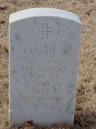 O'DONALD, FANNIE S. - Pulaski County, Arkansas | FANNIE S. O'DONALD - Arkansas Gravestone Photos