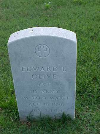 OLIVE (VETERAN WWI), EDWARD L - Pulaski County, Arkansas | EDWARD L OLIVE (VETERAN WWI) - Arkansas Gravestone Photos