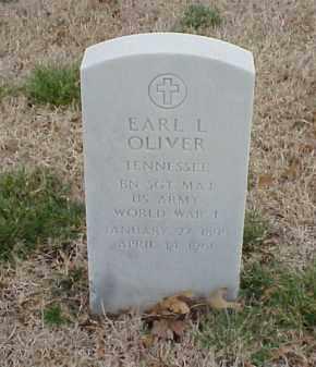 OLIVER  (VETERAN WWI), EARL L - Pulaski County, Arkansas   EARL L OLIVER  (VETERAN WWI) - Arkansas Gravestone Photos