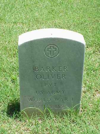 OLIVER (VETERAN WWI), BARKER - Pulaski County, Arkansas   BARKER OLIVER (VETERAN WWI) - Arkansas Gravestone Photos