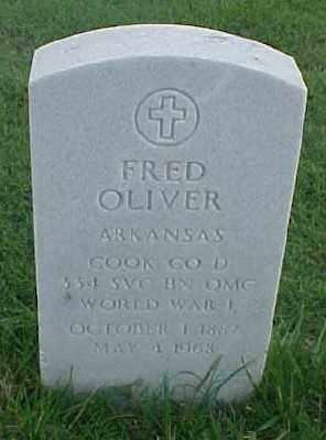 OLIVER (VETERAN WWI), FRED - Pulaski County, Arkansas | FRED OLIVER (VETERAN WWI) - Arkansas Gravestone Photos