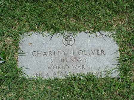 OLIVER (VETERAN WWII), CHARLEY - Pulaski County, Arkansas | CHARLEY OLIVER (VETERAN WWII) - Arkansas Gravestone Photos