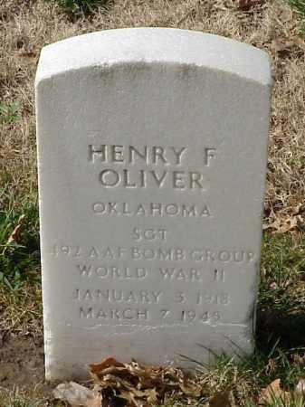 OLIVER (VETERAN WWII), HENRY F - Pulaski County, Arkansas | HENRY F OLIVER (VETERAN WWII) - Arkansas Gravestone Photos