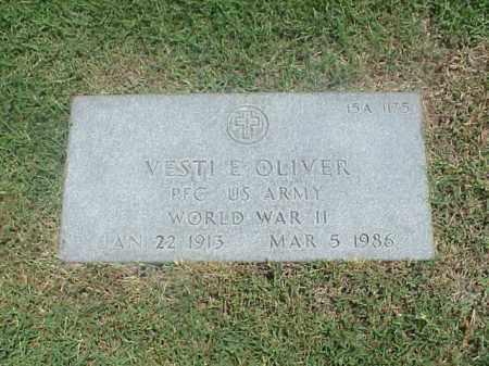 OLIVER (VETERAN WWII), VESTI E - Pulaski County, Arkansas | VESTI E OLIVER (VETERAN WWII) - Arkansas Gravestone Photos