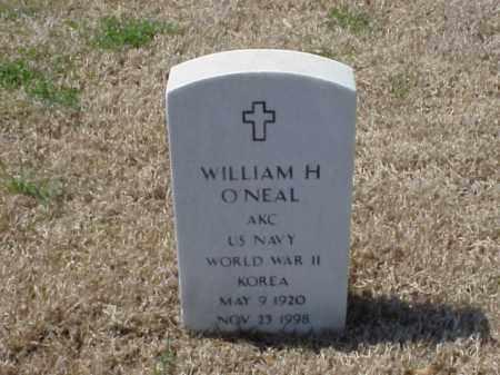 O'NEAL (VETERAN 2 WARS), WILLIAM H - Pulaski County, Arkansas | WILLIAM H O'NEAL (VETERAN 2 WARS) - Arkansas Gravestone Photos