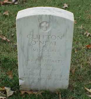 O'NEAL (VETERAN WWI), CLIFFTON - Pulaski County, Arkansas | CLIFFTON O'NEAL (VETERAN WWI) - Arkansas Gravestone Photos