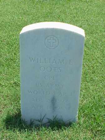 OOTS (VETERAN WWI), WILLIAM E - Pulaski County, Arkansas   WILLIAM E OOTS (VETERAN WWI) - Arkansas Gravestone Photos