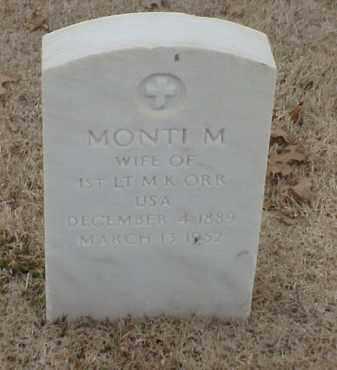 ORR, MONTI M - Pulaski County, Arkansas | MONTI M ORR - Arkansas Gravestone Photos