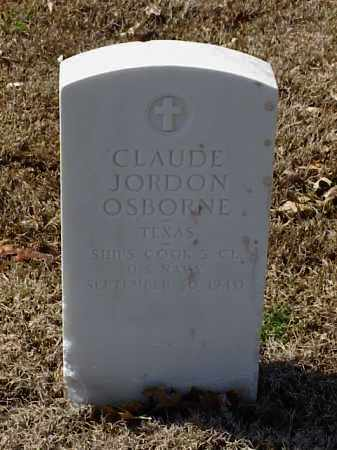 OSBORNE (VETERAN WWI), CLAUDE JORDON - Pulaski County, Arkansas   CLAUDE JORDON OSBORNE (VETERAN WWI) - Arkansas Gravestone Photos