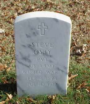 OSBY (VETERAN WWI), STEVE - Pulaski County, Arkansas | STEVE OSBY (VETERAN WWI) - Arkansas Gravestone Photos
