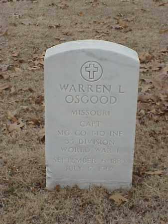OSGOOD (VETERAN 2 WARS), WARREN L - Pulaski County, Arkansas   WARREN L OSGOOD (VETERAN 2 WARS) - Arkansas Gravestone Photos