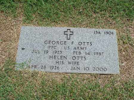 OTTS (VETERAN WWII), GEORGE F - Pulaski County, Arkansas   GEORGE F OTTS (VETERAN WWII) - Arkansas Gravestone Photos