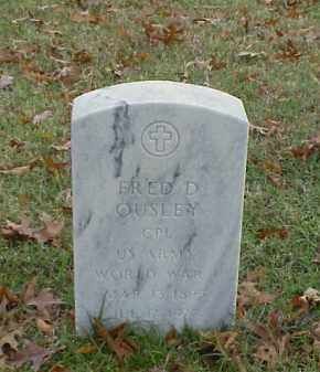 OUSLEY (VETERAN WWI), FRED D - Pulaski County, Arkansas | FRED D OUSLEY (VETERAN WWI) - Arkansas Gravestone Photos