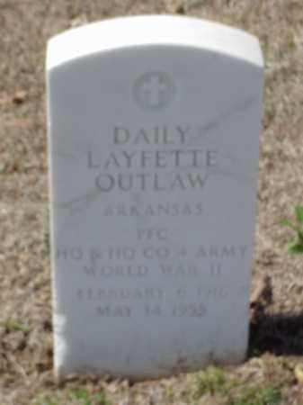 OUTLAW  (VETERAN WWII), DAILY LAFETTE - Pulaski County, Arkansas | DAILY LAFETTE OUTLAW  (VETERAN WWII) - Arkansas Gravestone Photos