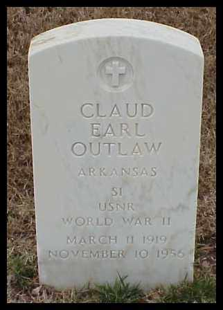 OUTLAW (VETERAN WWII), CLAUD EARL - Pulaski County, Arkansas | CLAUD EARL OUTLAW (VETERAN WWII) - Arkansas Gravestone Photos